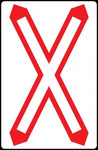 Andreaskreuz straßenzeichen