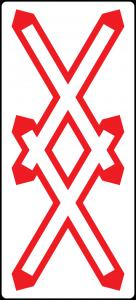 doppeltes Andreaskreuz straßenzeichen