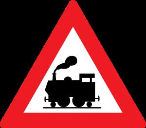 Bahnübergang ohne Schranken straßenzeichen