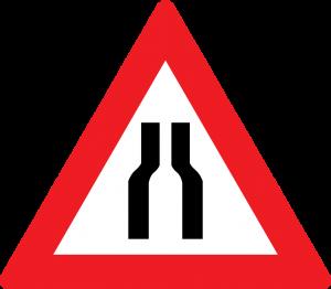 Fahrbahnverengung (beidseitig) straßenschild