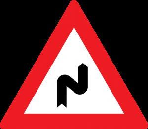 gefärliche doppelkurve rechts beginnend straßenzeichen
