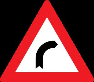 gefaerliche rechts kurven straßenzeichen