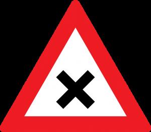 Kreuzung straßenzeichen