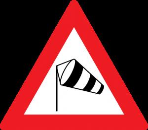 Seitenwind straßenschild