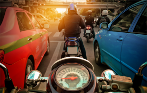 motorrad an der haltelinie